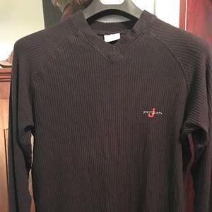 Men's black ribbed joop long sleeve jersey